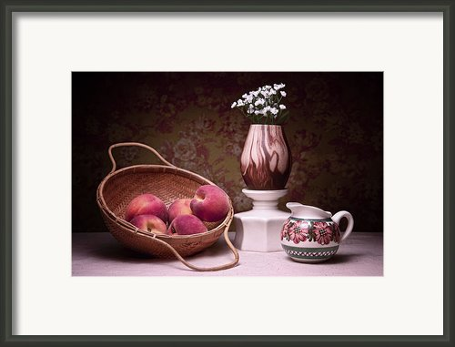 Peaches And Cream Sill Life Framed Print By Tom Mc Nemar