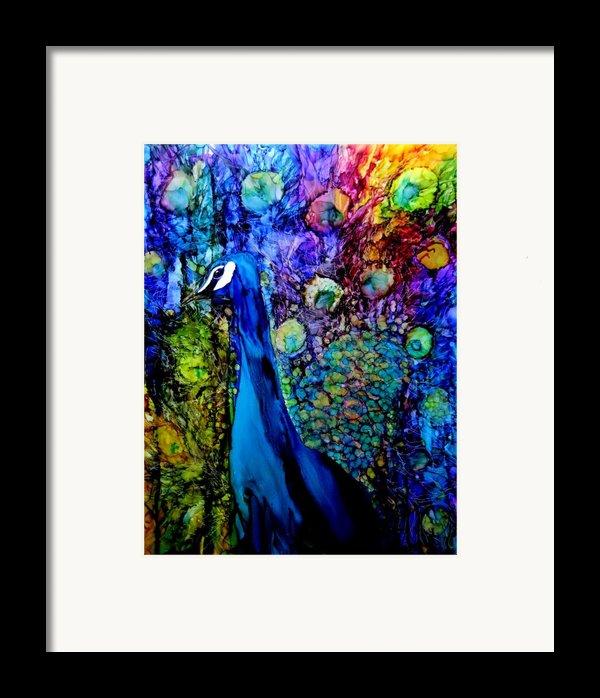 Peacock Ii Framed Print By Karen Walker