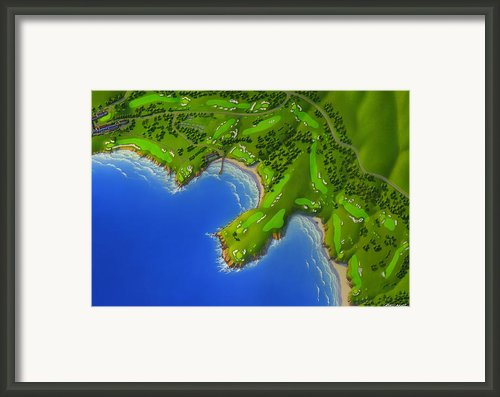 Pebble Beach Golf Links  Framed Print By Robin Moline