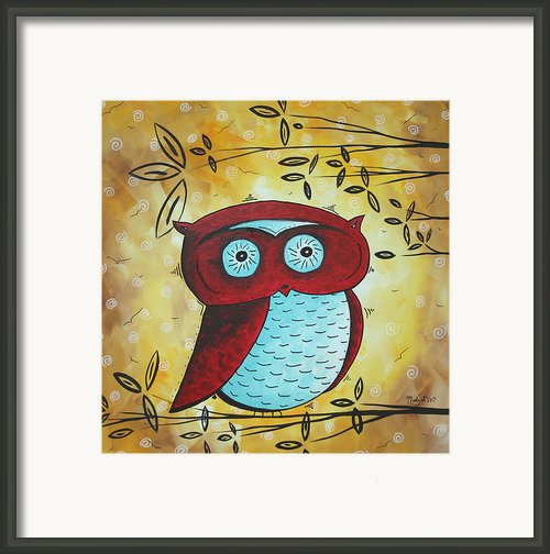 Peekaboo By Madart Framed Print By Megan Duncanson