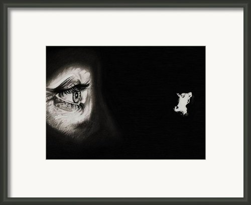 Peeping Tom - Psycho Framed Print By Fred Larucci