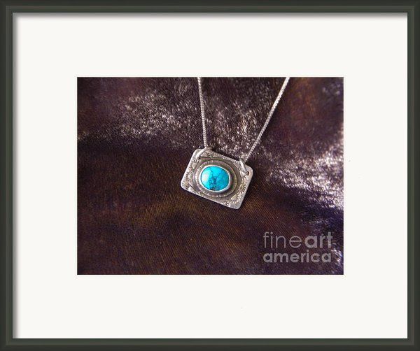 Pendant With Turquoise Framed Print By Patricia  Tierney