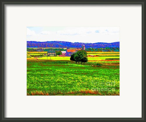 Pennsylvania Farm Ii Framed Print By Annie Zeno
