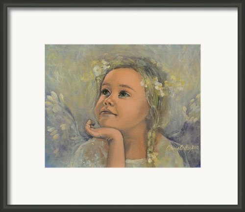 Pensive - Angel 22 Framed Print By Dorina  Costras