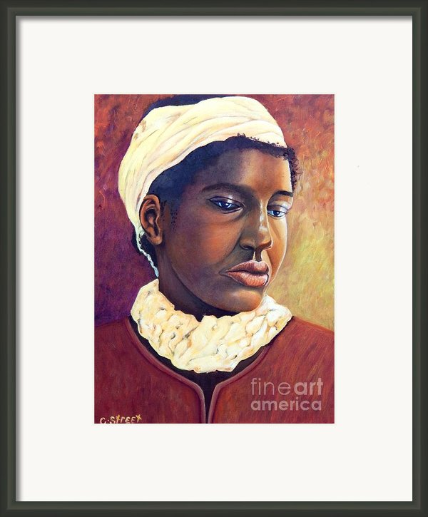 Pensive Contemplation Framed Print By Caroline Street