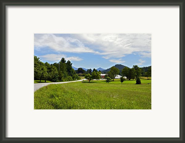 Persimmon Valley Framed Print By Susan Leggett