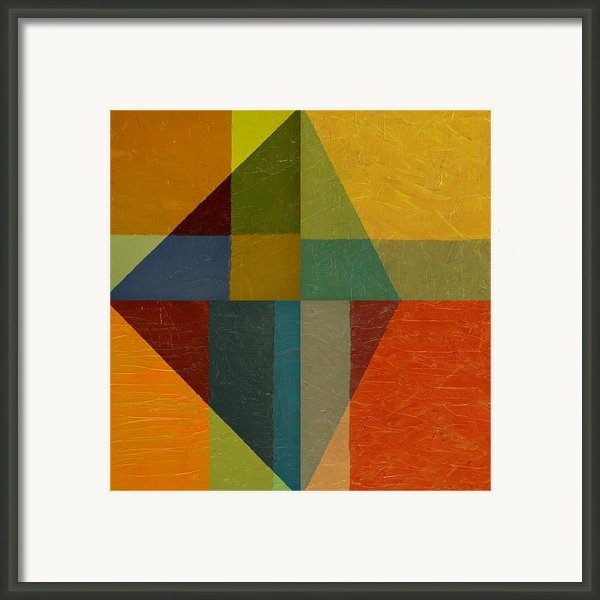Perspective In Color Collage Framed Print By Michelle Calkins