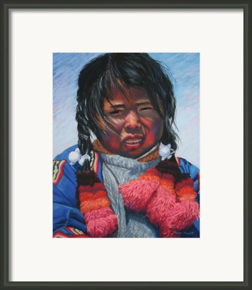 Peruvian Lake Dweller Framed Print By Marion Derrett