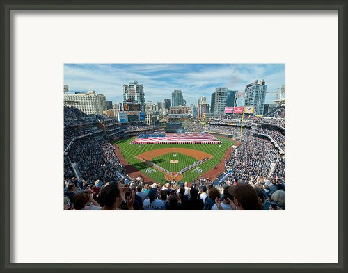 Petco Park Season Opener 2011 Framed Print By Mark Whitt
