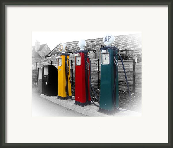 Petrol Station Framed Print By Roberto Alamino