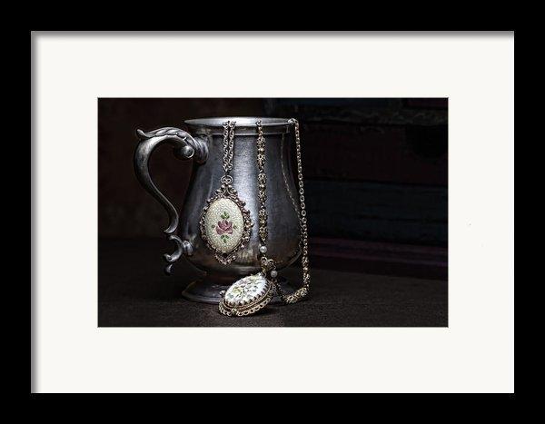 Pewter Cup Still Life Framed Print By Tom Mc Nemar