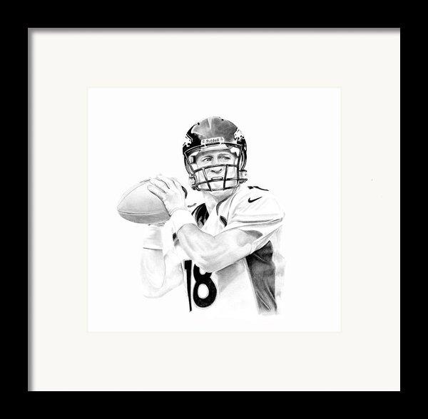 Peyton Manning Framed Print By Don Medina