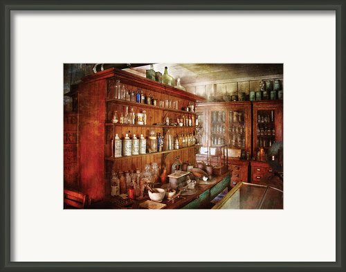 Pharmacist - Behind The Scenes  Framed Print By Mike Savad