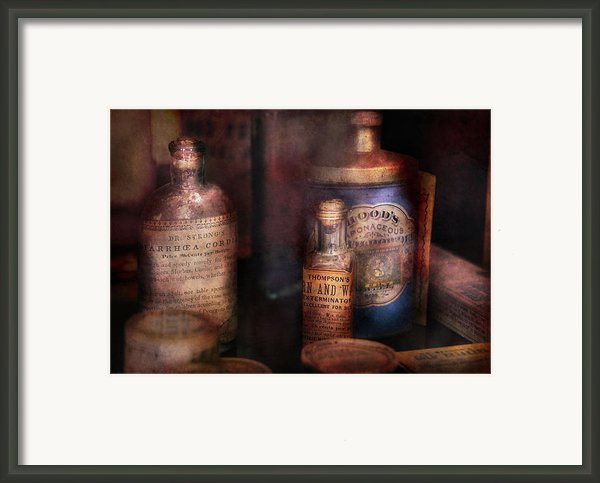 Pharmacist - Medicine For Diarrhea And Burns  Framed Print By Mike Savad
