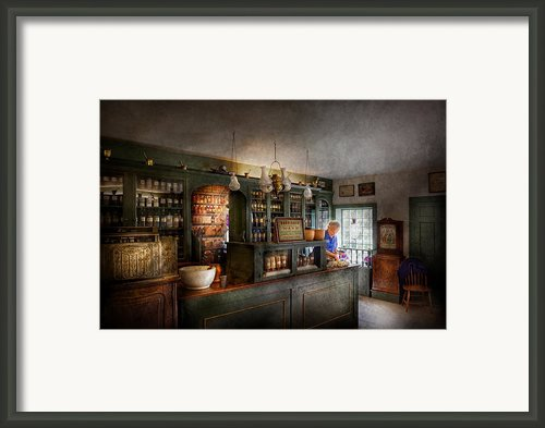 Pharmacy - Morning Preparations Framed Print By Mike Savad