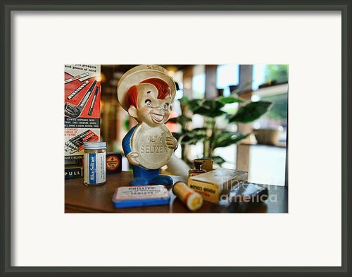Pharmacy - Speedy Alka Seltzer - Vintage Advertising  Framed Print By Paul Ward