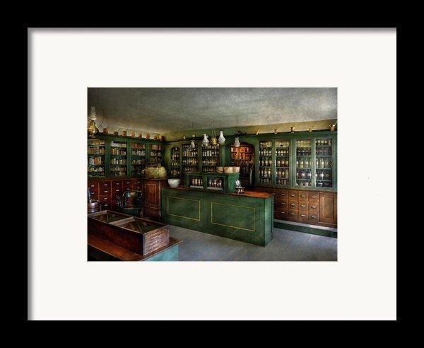 Pharmacy - The Chemist Shop  Framed Print By Mike Savad