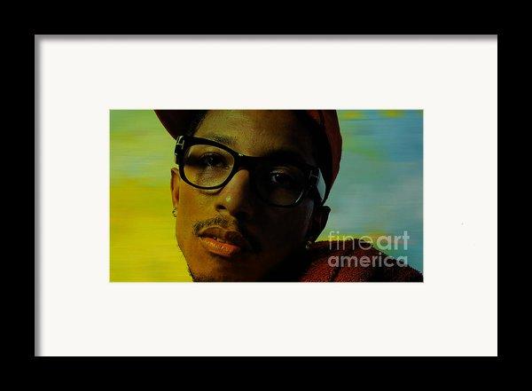 Pharrell Williams Framed Print By Marvin Blaine