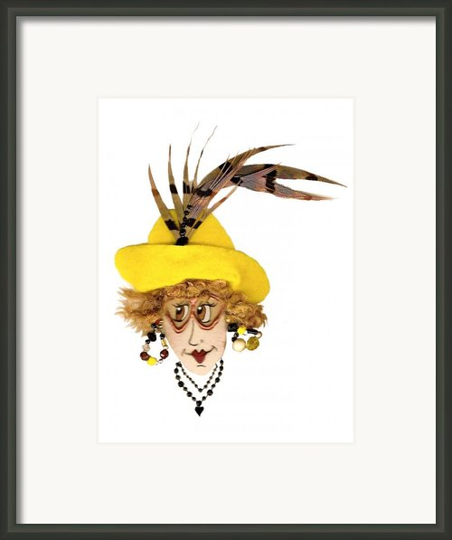 Pheasant Feather Whimsy Framed Print By Nan Wright