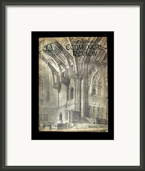 Phil Ecumenical Review 1965 Framed Print By Glenn Bautista