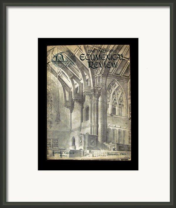Phil Ecumenical Review 1965 Framed Print By Glenn Bautista