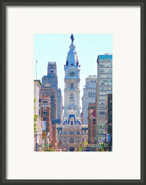 Philadelphia City Hall 20130703 Framed Print By Wingsdomain Art And Photography