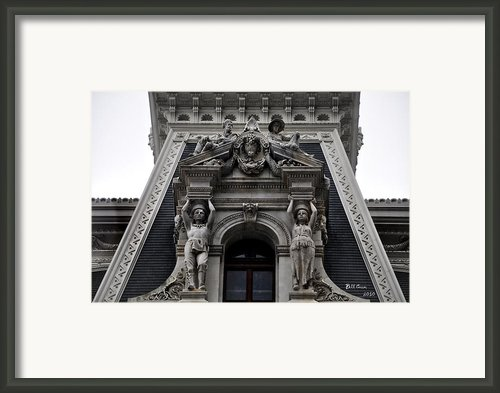 Philadelphia City Hall Dormer Window Framed Print By Bill Cannon