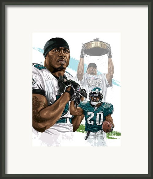 Philadelphia Eagles Legend Brian Dawkins Framed Print By David E Wilkinson