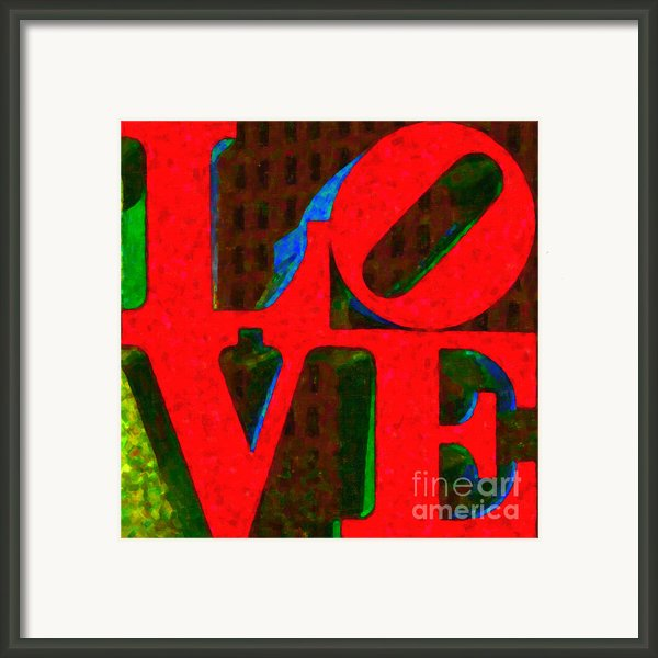 Philadelphia Love - Painterly V1 Framed Print By Wingsdomain Art And Photography