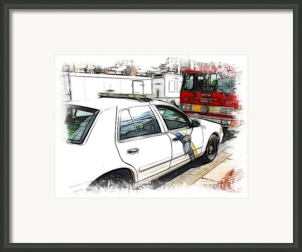 Philadelphia Police Car Framed Print By Paul And Fe Photography Messenger