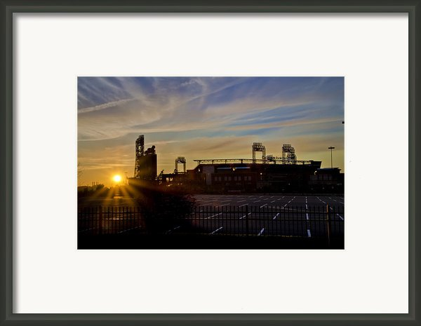 Phillies Citizens Bank Park At Dawn Framed Print By Bill Cannon