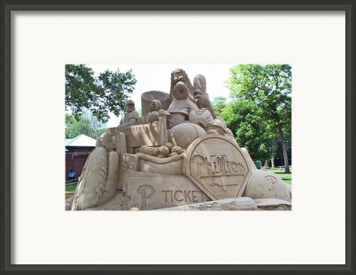Phillies Sandsculpture Framed Print By Barbara Mcdevitt