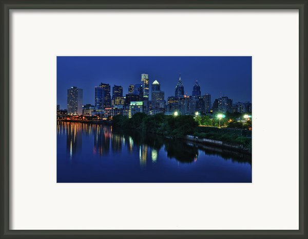 Philly Skyline Framed Print By Mark Fuller