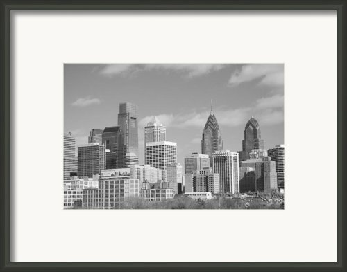 Philly Skyscrapers Black And White Framed Print By Jennifer Lyon