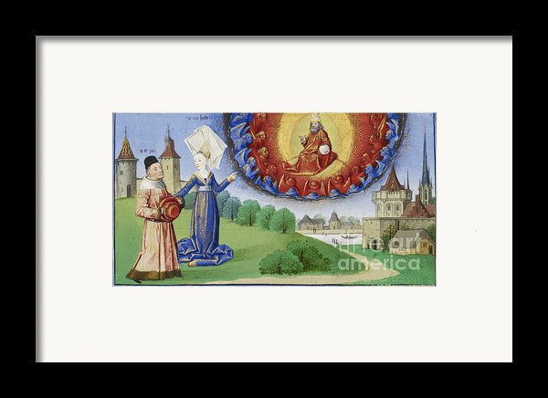 Philosophy Instructs Boethius On God Framed Print By Getty Research Institute