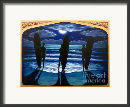 Phosphorus Nights Framed Print By Teri Tompkins