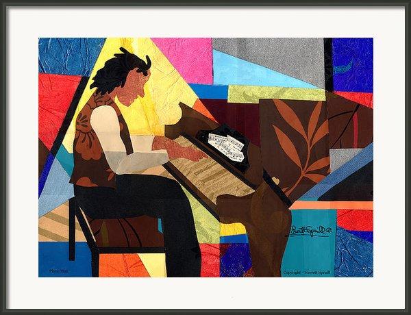 Piano Man 2012 Framed Print By Everett Spruill