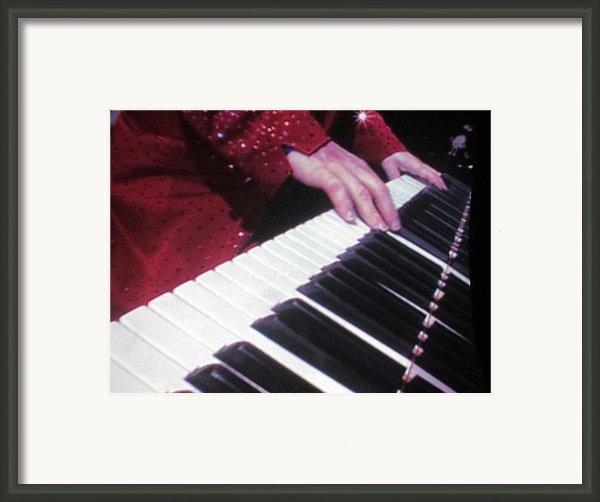 Piano Man At Work Framed Print By Aaron Martens