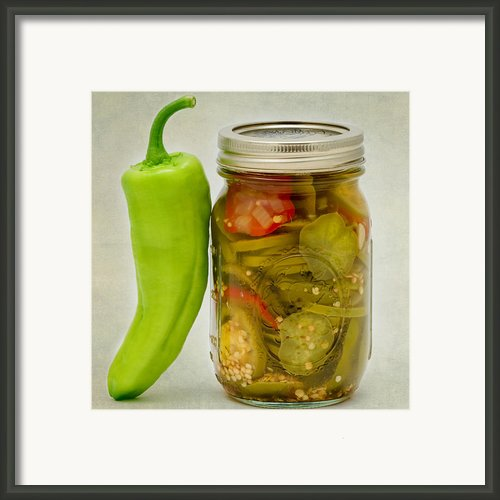 Pickled Peppers Framed Print By Bill  Wakeley