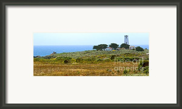 Piedras Blancas Lighthouse Near San Simeon And Cambria Along Hwy 1 In California Framed Print By Artist And Photographer Laura Wrede
