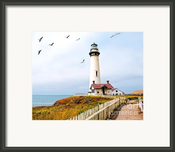 Pigeon Point Lighthouse Framed Print By Artist And Photographer Laura Wrede
