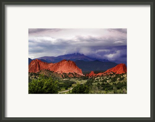 Pikes Peak Storm Framed Print By Rod Seel