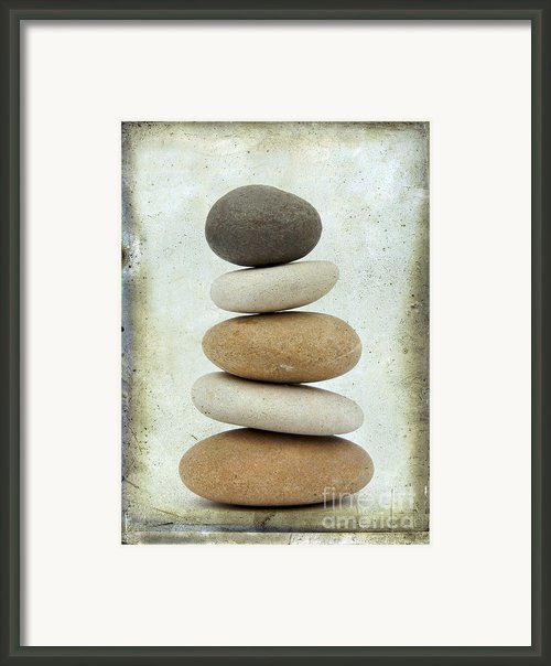 Pile Of Pebbles Framed Print By Bernard Jaubert