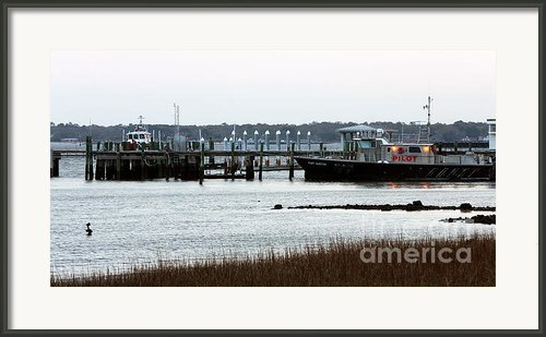 Pilot At The Dock Framed Print By John Rizzuto