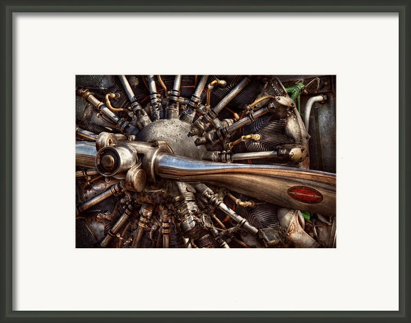 Pilot - Plane - Engines At The Ready  Framed Print By Mike Savad