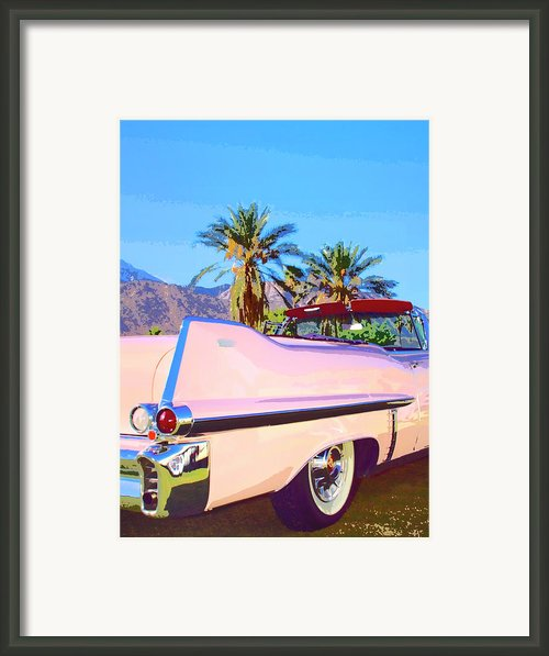 Pink Cadillac Palm Springs Framed Print By William Dey