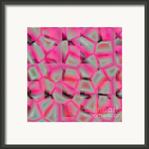Pink Glass Compositions Framed Print By Laszlo Slezak
