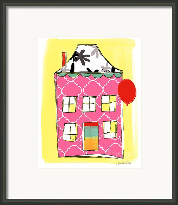 Pink House Framed Print By Linda Woods
