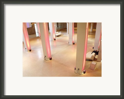 Pink Pillars I Framed Print By Anna Villarreal Garbis