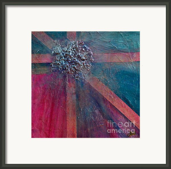 Pink Present Framed Print By Claire Bull